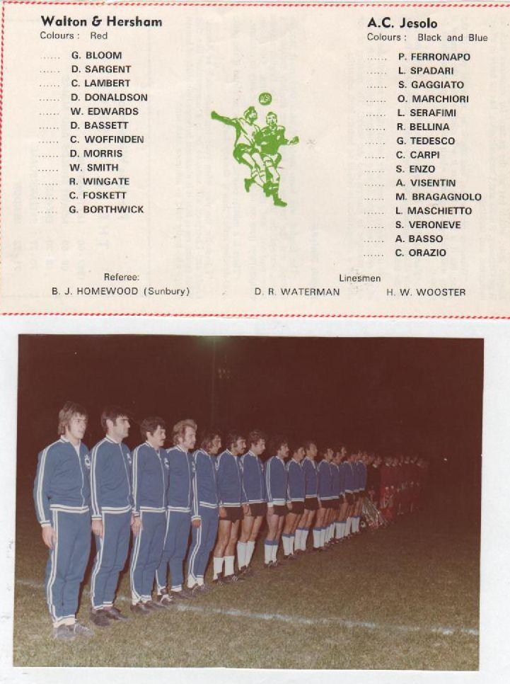 Finale  Italia - Inghilterra a  Wolton & Hershan